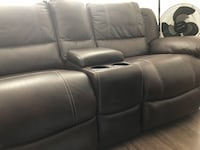 Power recycling love seat sofa console with cup holders and double storage Milpitas, 95035