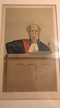 Vanity fair lithograph jcfs day oct 27 1888 Vincent brooks day and son lith Vienna, 22180
