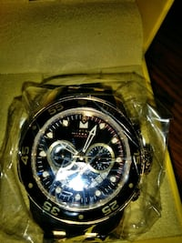 round silver chronograph watch with link bracelet San Diego, 92154