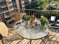 Outside Patio set (4 chairs & round glass table) Alexandria, 22304