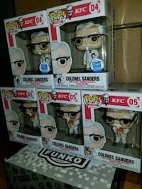 Colonel Sanders funko pops $30 to $60 EACH  Toronto, M1L 2T3