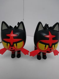 two red and black Batman and Superman logo Bell, 90201