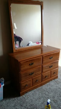 brown wooden dresser with mirror Edmonton, T6J 5S6