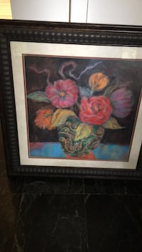 Red and yellow flowers painting Ocean, 07712