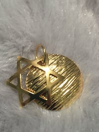 18k GPL Small Star Of David Religious Pendant
