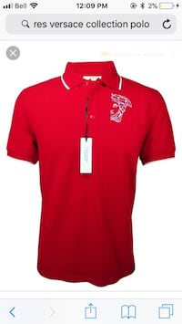 red and white Adidas polo shirt South Huron, N0M 1Y0