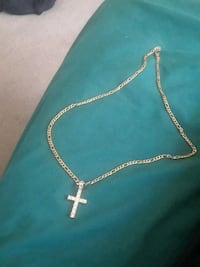 Gold 40k stainless steel Crucifix Necklace Washington, 20002