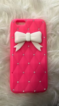 red and white iPhone case Linden, 07036