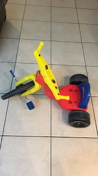 red,yellow, and blue trike
