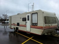 white and red camper trailer Sioux Falls, 57106