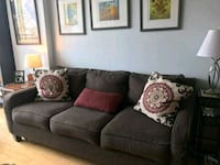 gray fabric 3-seat sofa Manassas, 20111