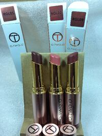 O.TWO.O waterproof long-lasting lipsticks (only few colors left) Burnaby, BC, Canada