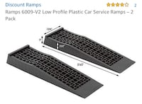 New, unused  Ramps 6009-V2 Low Profile Plastic Car Service Ramps – 2 Pack St Thomas, N5R 6M6