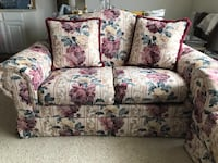 Vintage Floral fabric sofa set with loveseat MANASSAS