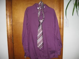 Mens, Dress Shirt with Tie.Size Medium.Wrinkle Free. Comfortable