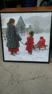 $20 or BO - Winter painting. It is signed and professionally framed