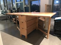 IKEA Norden table and 4 Nordmyra chairs Toronto, M4M 1G4