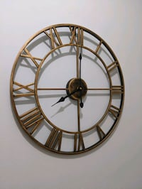 Decorative gold wall clock
