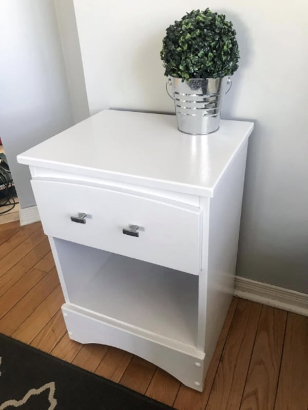 Newly refinished night stand /side table aa5d12fd-7eb5-486f-84fb-957bd727632a