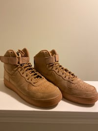 Air Force 1 High '07 LV8 Wheats Size 10.5 (GOAT Verified Authenticated) No Creases if any Inner and Outer Sole are clean and Box is also in perfect condition Calgary, T3N 0W5