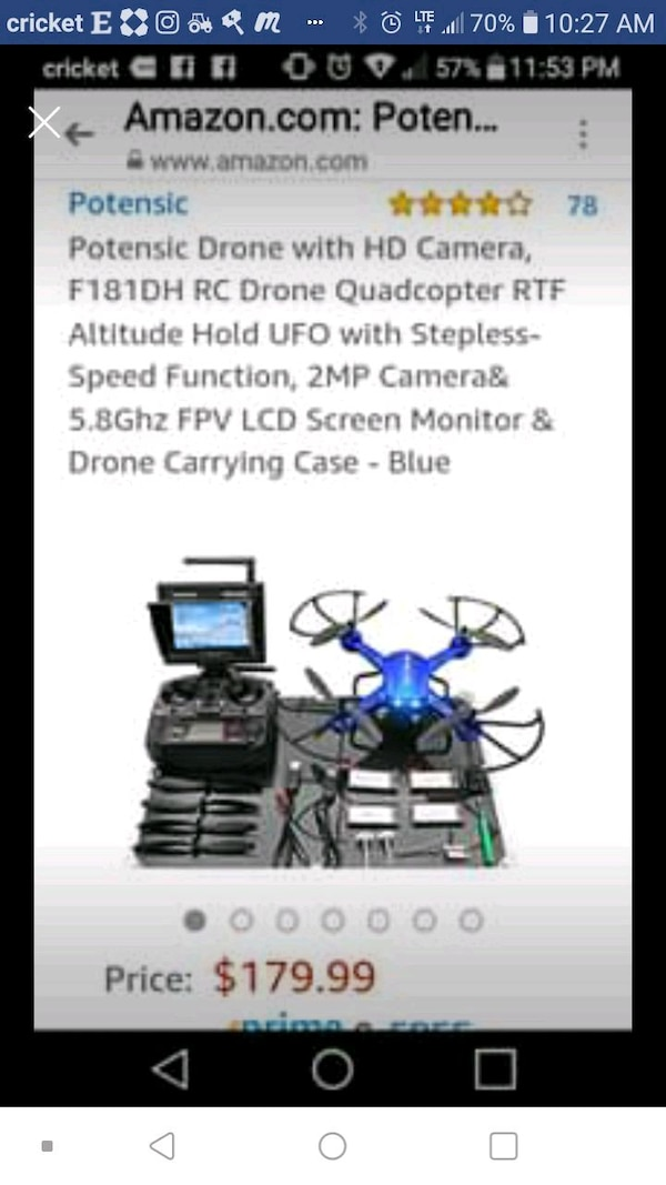 Drone - with extra batteries and charger