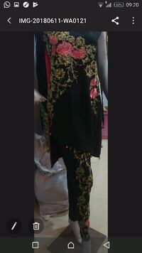 women's black and brown floral dress Montreal