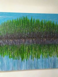 green and blue abstract painting Surrey, V3Z