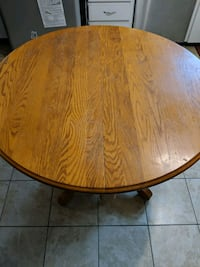 Oak Table with Leaf and glass top Northumberland County, K0K 1S0