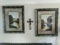 2 large prints with beautiful frames and matting  Leesburg, 20176