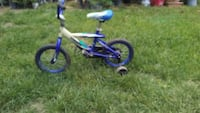 toddler's blue and white bicycle with training wheels El Monte, 91734