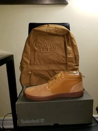 pair of brown leather boots Mississauga, L5C