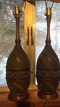 Two table lamps vintage retro style Johnstown