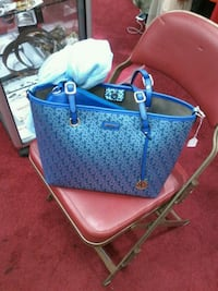 blue and brown leather tote bag London, EC2V