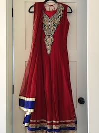 Red and blue long dress suit (new)  Surrey, V3W 7J9