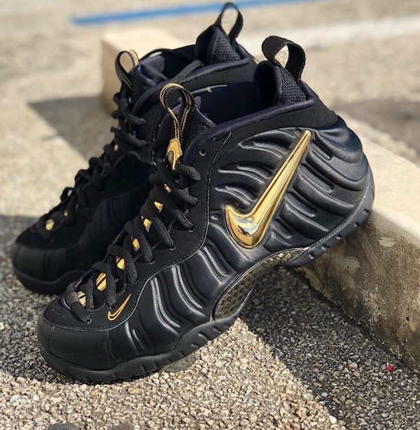 "huge selection of online shop footwear Used Nike Air Foamposite Pro ""Black/Metallic Gold"" for sale in ..."