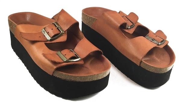 4ef354d7ea Used Sixtyseven Paige Platform Free People Leather Birkenstock ...
