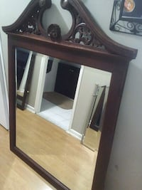 Beautiful large mirror with real wood frame Mississauga, L5A 3R1