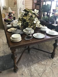 1800's antique table & 8 leafs Clearwater, 33761