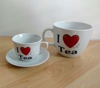 I ♡ Tea cup, saucer and giant mag set Toronto, M4S 2H7