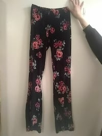 women's black, red, and green floral pants Minot, 58701