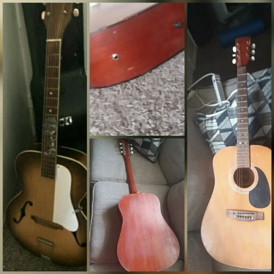 1940s era Silvertone Arch top Acoustic and Custom