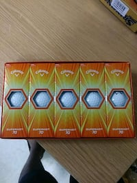 five Callaway superhot 70 golf ball boxes