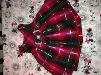 toddler girl's red, pink and black plaid scoop neck sleeveless dress Hanover, 17331