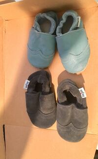 Moccasin slipper shoes for baby.  Fits 12 month old.  Modesto, 95355