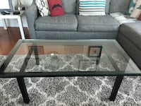 Crate and Barrel glass coffee table  null, 11109