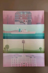 "Wes Anderson canvas print 14.5""x10.5"" Washington, 20003"