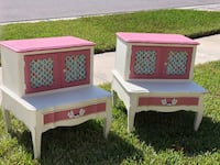Shabby chic french end tables 804 mi