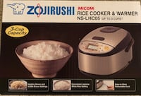 Zojirushi Rice Cooker New  Markham, L3T