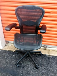 Herman Miller Aeron Chair, Size B, All Features, Fully Adjustable Arms Washington, 20018
