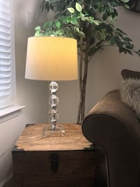 Elegant side lamp with lamp shade